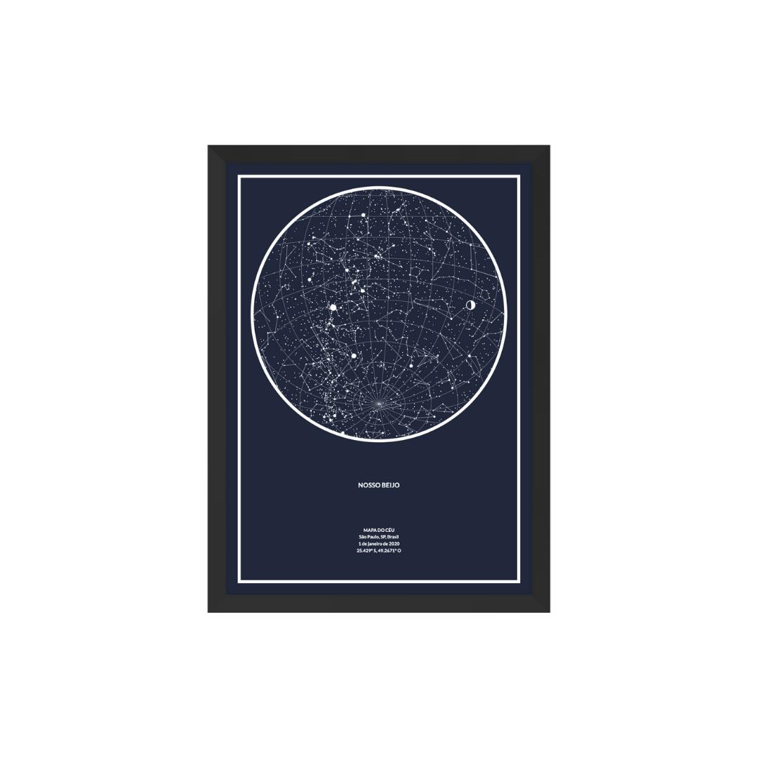 Mapa do céu personalizado