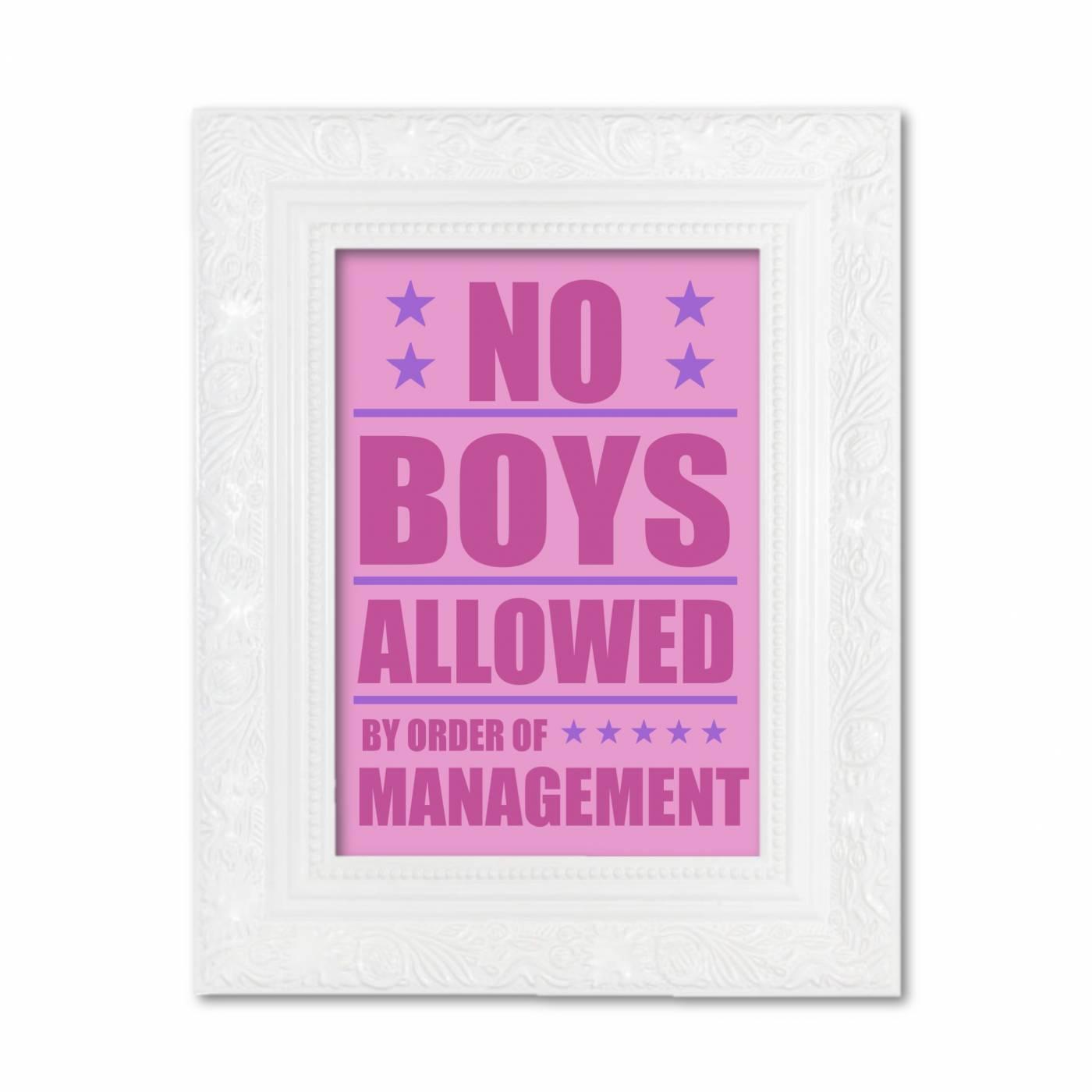 No boys
