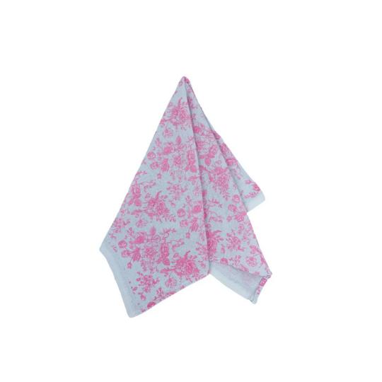 Pano de prato: flor rosa