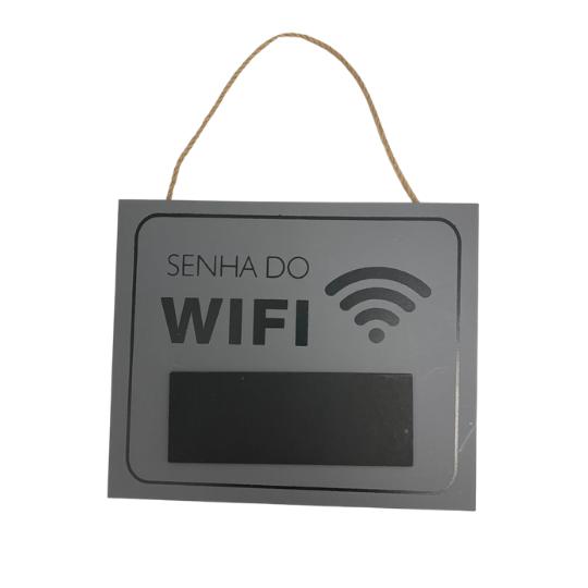 Plaquinha senha do wifi