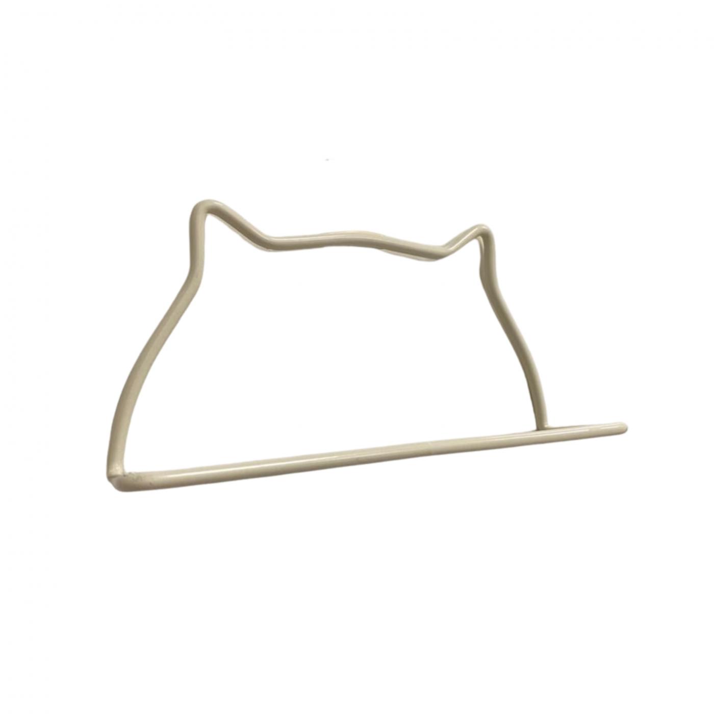 Suporte para pano de prato gato branco