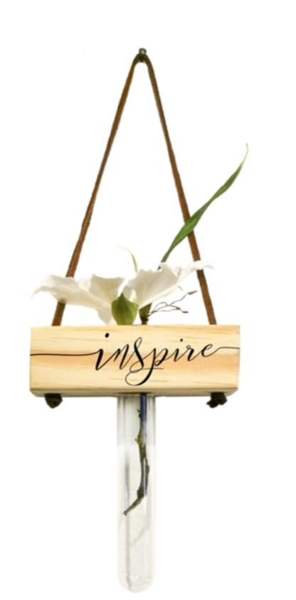 Vaso balanço madeira: inspire...