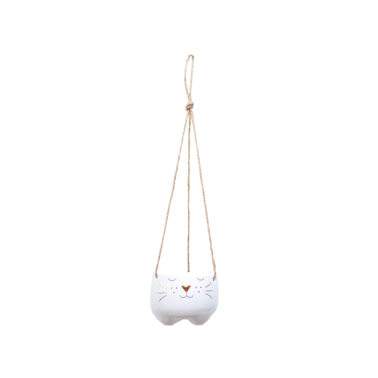 Vaso de pendurar: gato