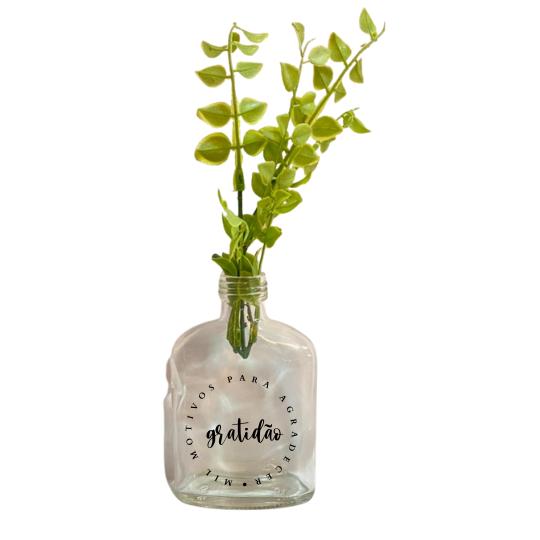 Vaso garrafa Whisk -  Gratidão
