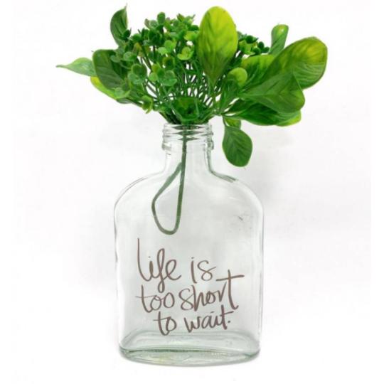 VASO GARRAFA WHISK - LIFE IS