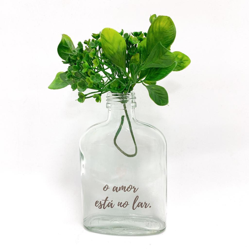 Vaso garrafa Whisk - o amor está no lar