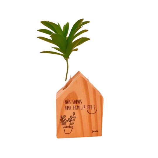 Vaso madeira casinha