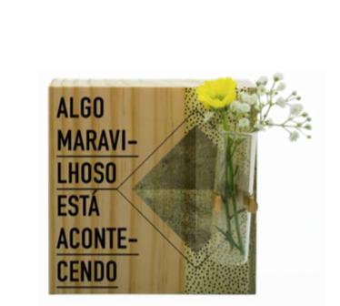 Vaso madeira quadrado: Algo maravilhoso