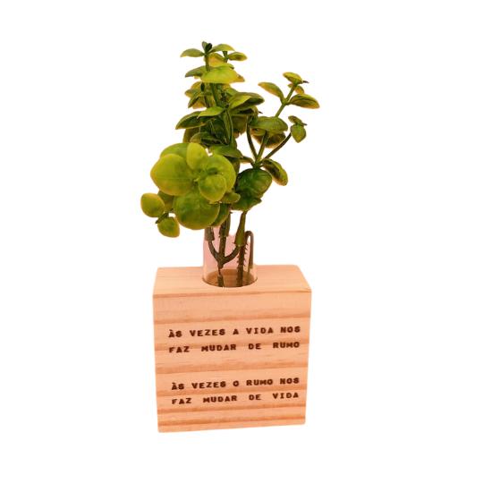 Vaso madeira quadrado: as vezes a vida..