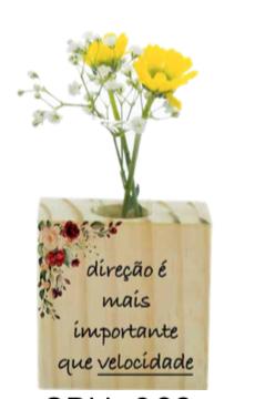 Vaso madeira quadrado: direção...