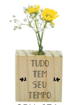 Vaso madeira quadrado: tudo tem seu tempo...