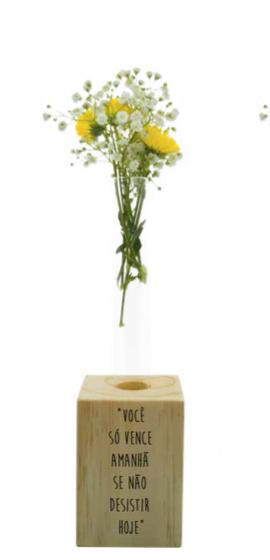 Vaso madeira retangular: você só vence