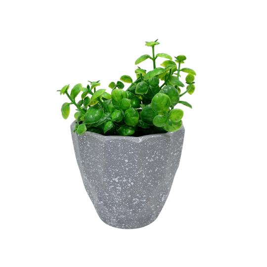 Vaso plástico geométrico: cinza