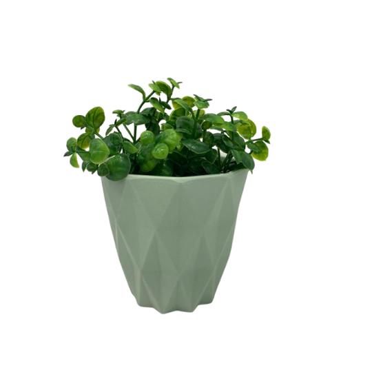 Vaso plástico geométrico: verde
