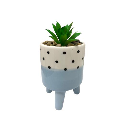Vaso poa azul
