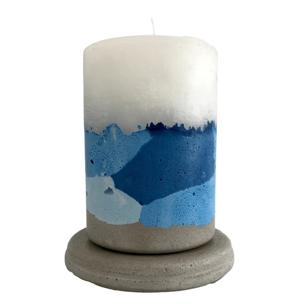 Vela concreto com base: azul