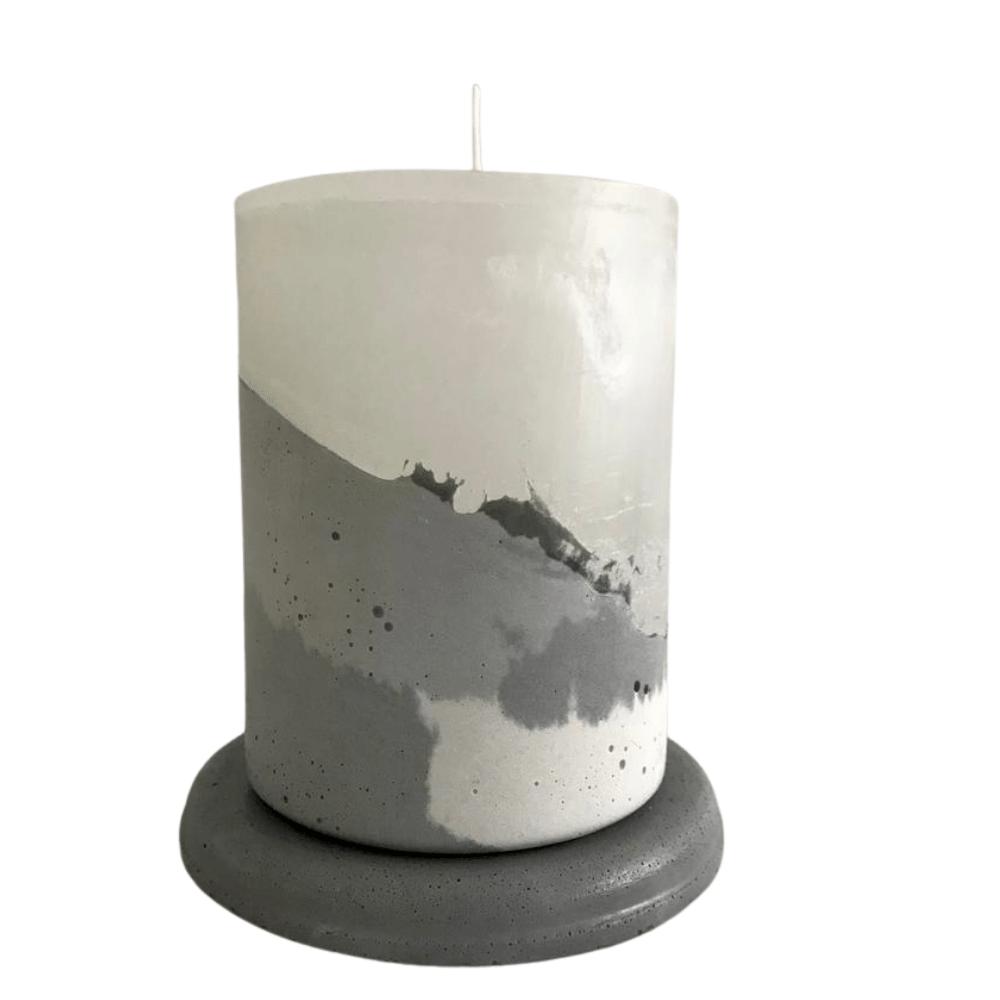 Vela concreto com base: cinza