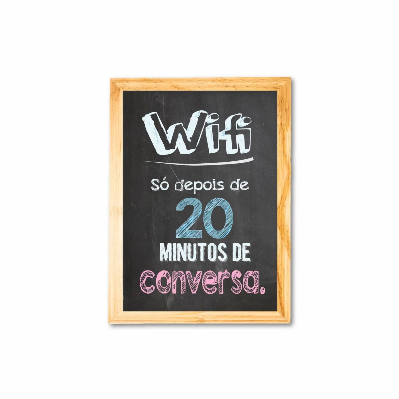Wifi depois de 20 min de conversa