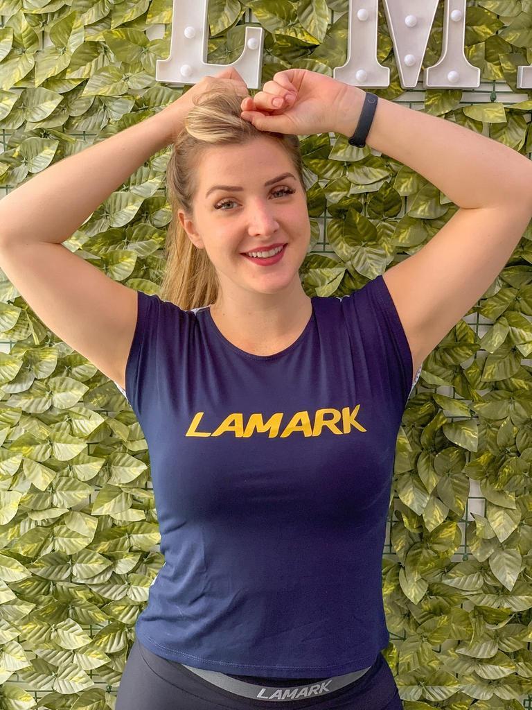 Blusa manguinha com costas de telinha  - Lamark Fitness