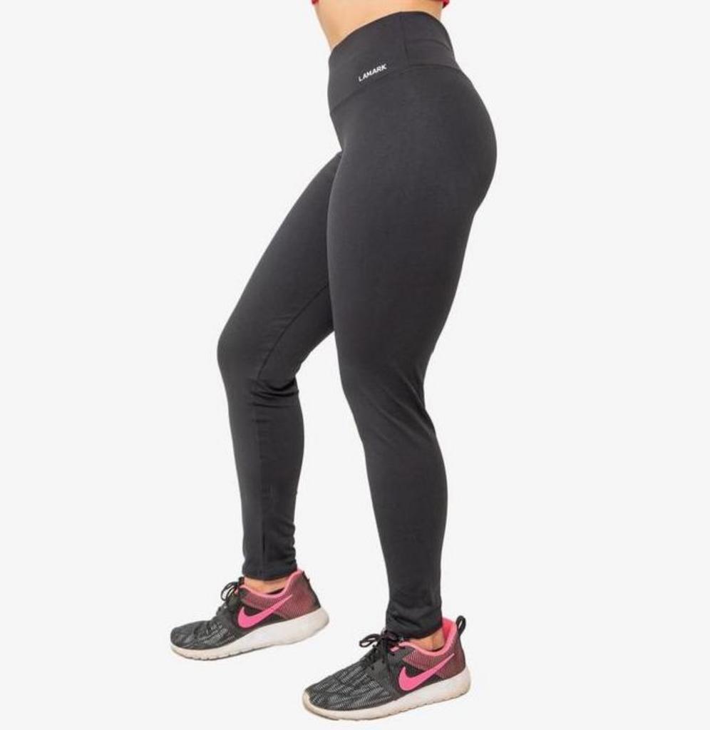 Calça legging básica de poliamida  - Lamark Fitness