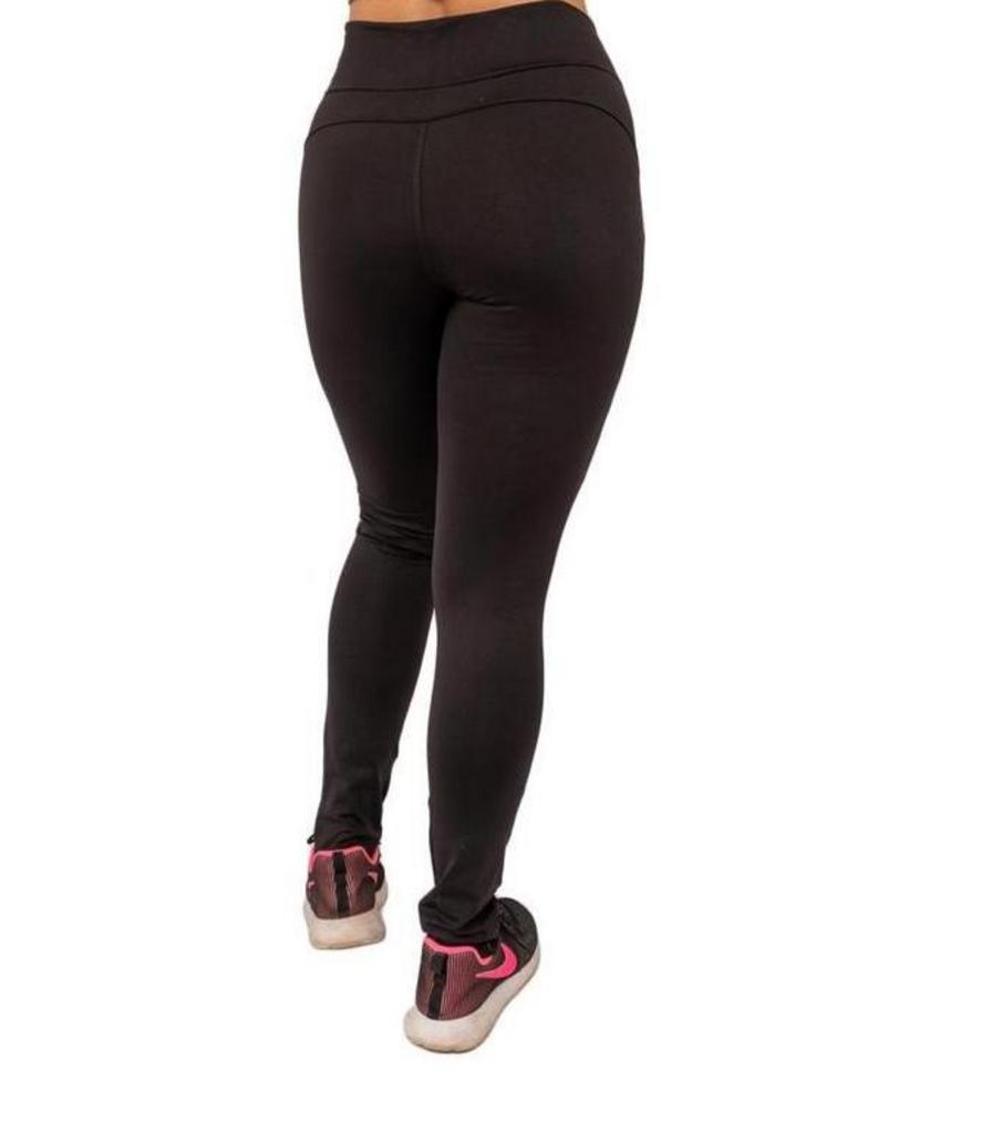 Calça legging com ziper e bolso de poliamida  - Lamark Fitness