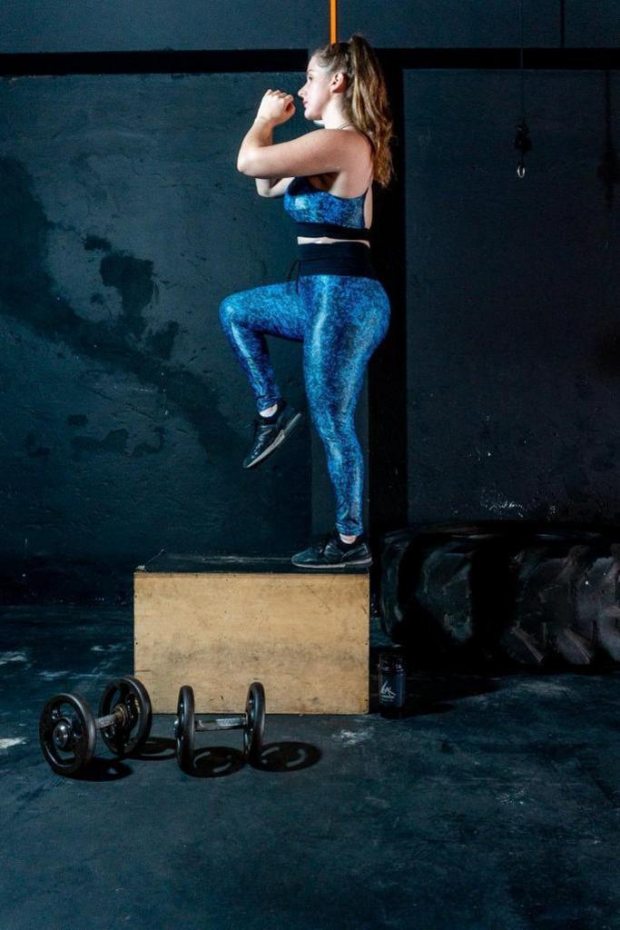 Calça legging cós triplo de poliamida  - Lamark Fitness
