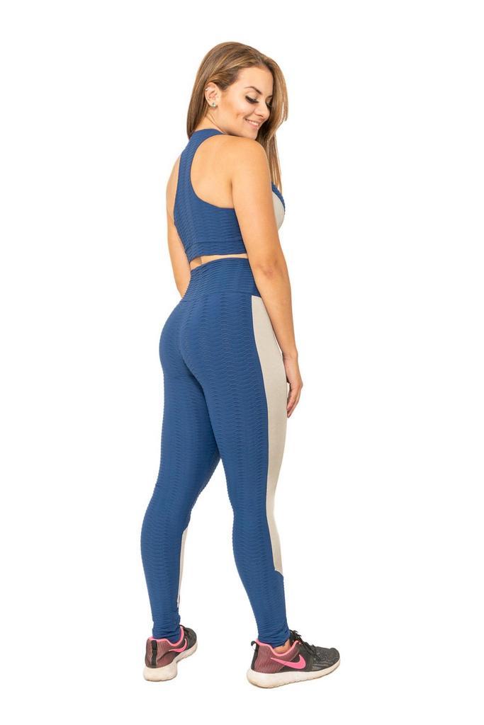 Calça legging duas cores de poliamida  - Lamark Fitness