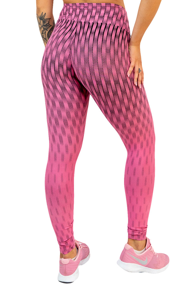 Calça legging jacguard de poliamida  - Lamark Fitness