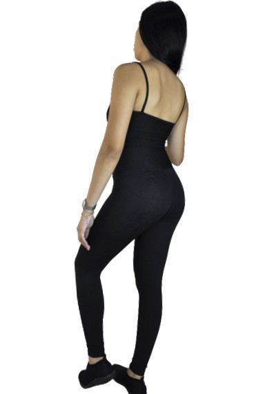 CALÇA LEGGING LEAF PRETA  - Lamark Fitness