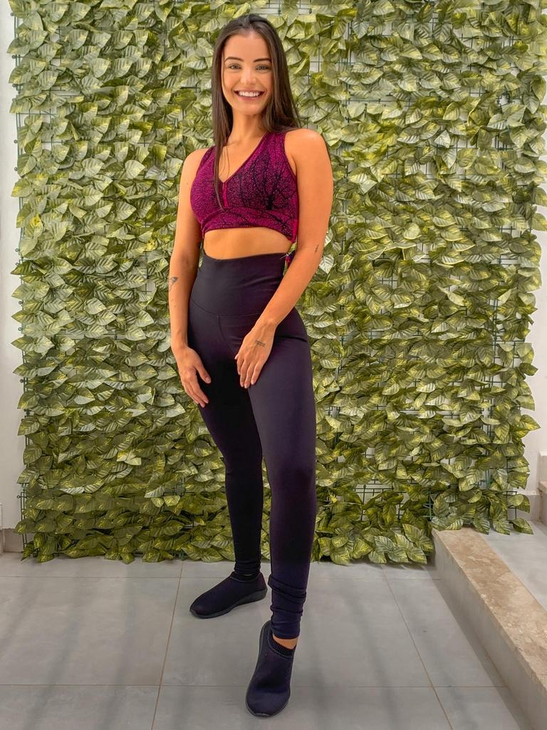 Calça legging liberty de poliamida  - Lamark Fitness