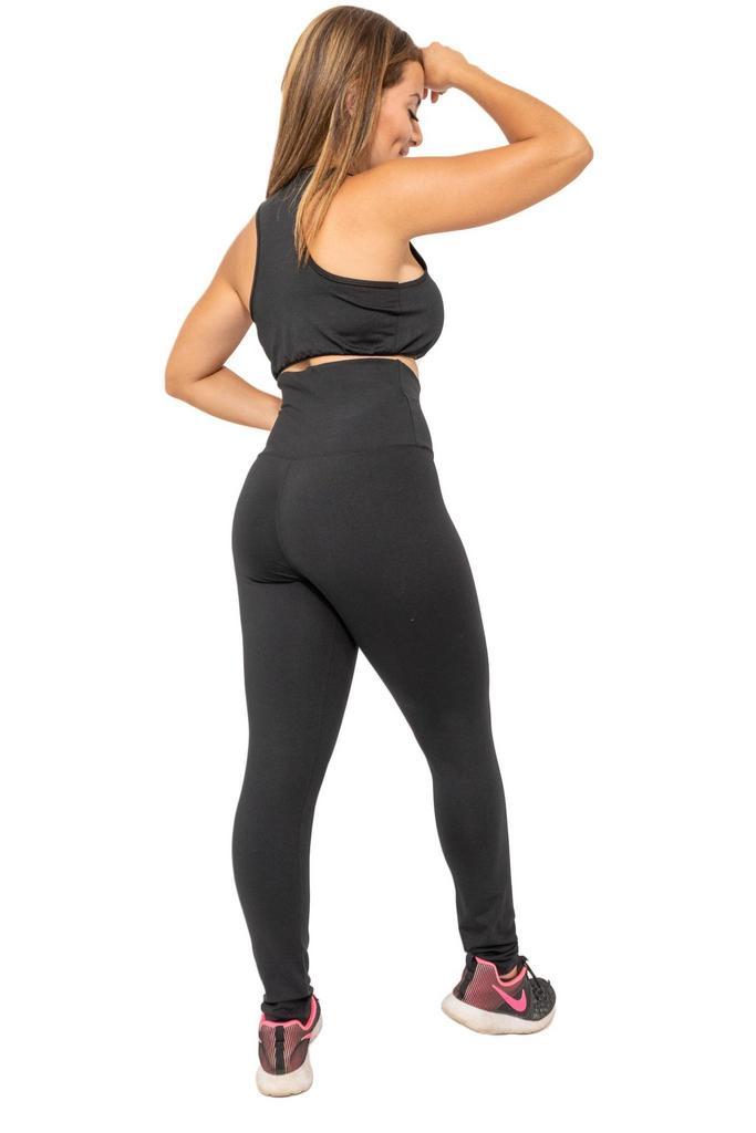 Calça legging modeladora blackout de poliamida  - Lamark Fitness