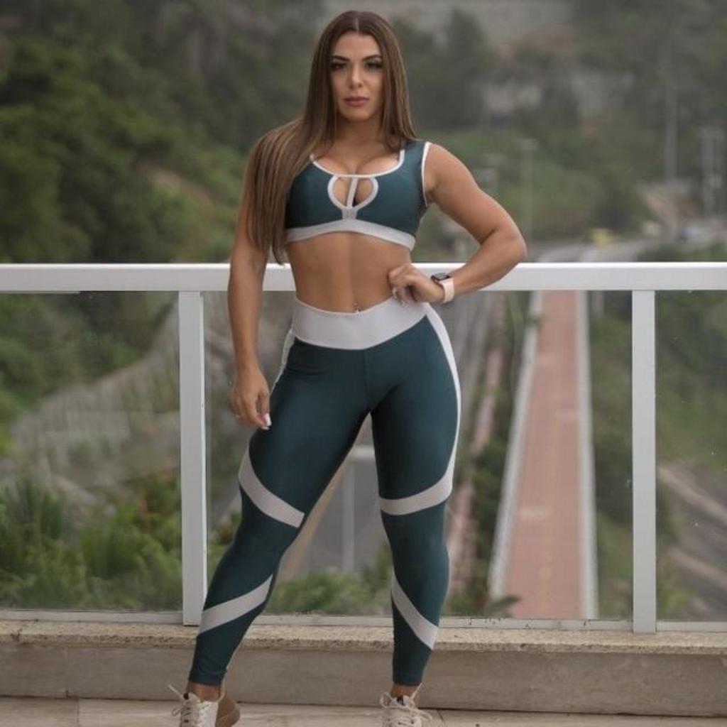 Calça legging new york de poliamida  - Lamark Fitness