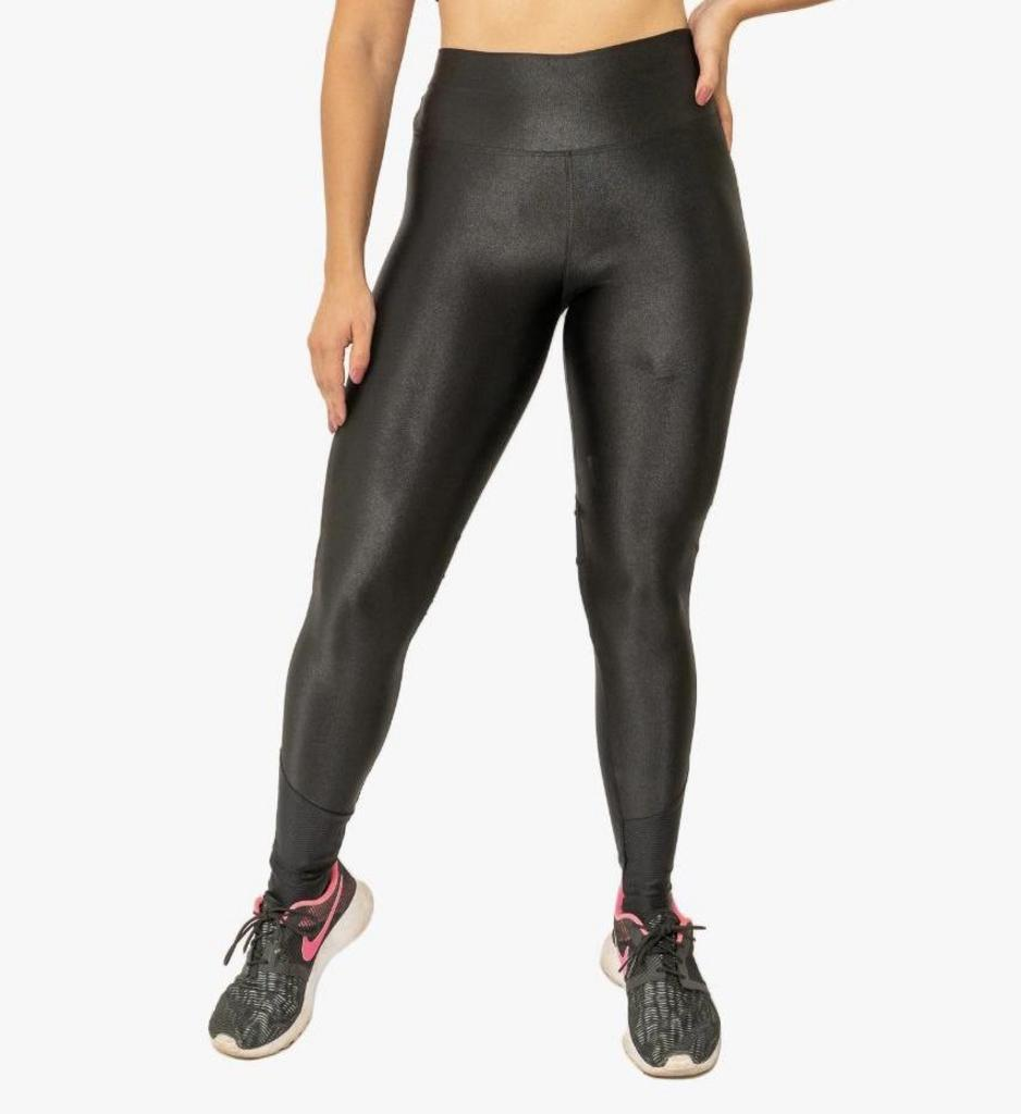 Calça legging poewer cirre de poliamida  - Lamark Fitness