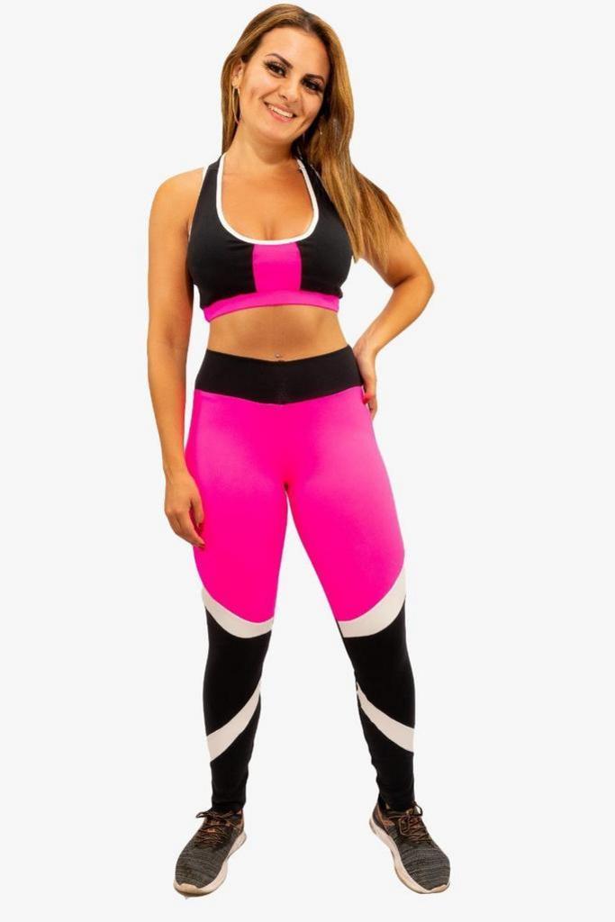 Calça legging princess de poliamida  - Lamark Fitness