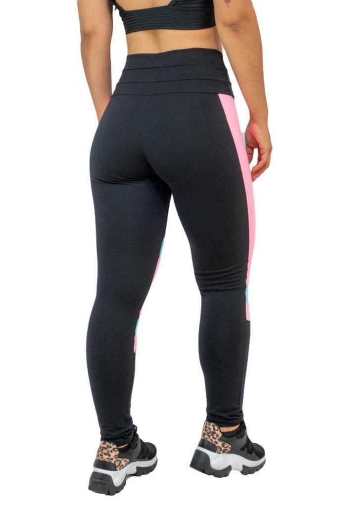 Calça legging salto triplo de poliamida  - Lamark Fitness