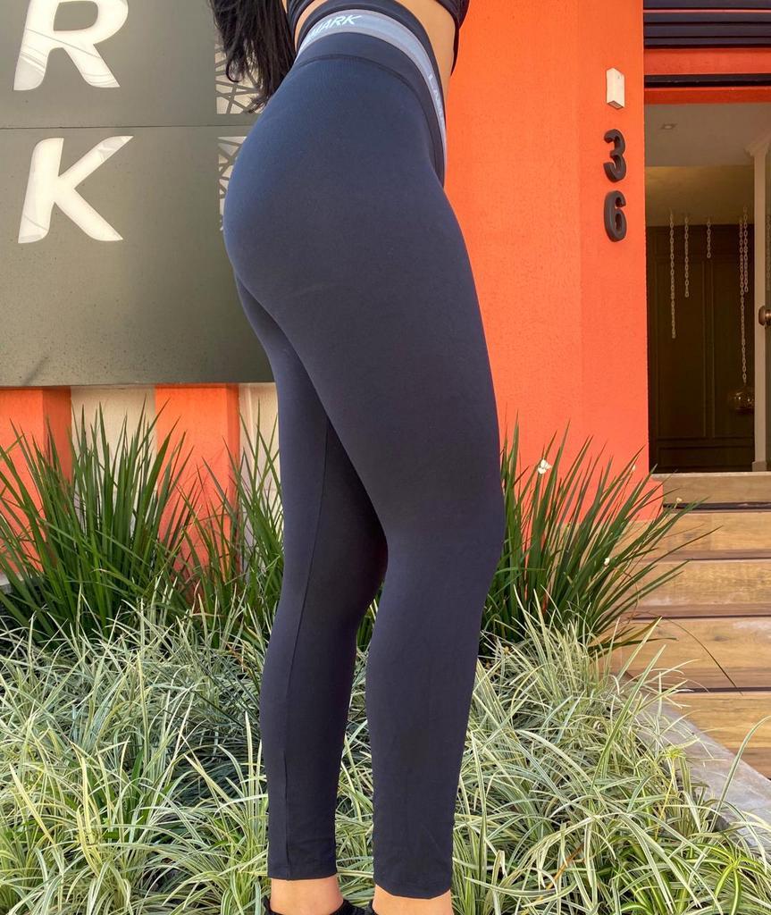 Calça legging segura bacon cós transversal de poliamida  - Lamark Fitness