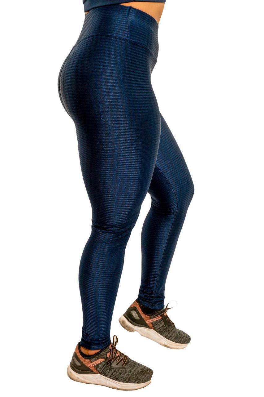 CALÇA LEGGING SUZUKA AZUL MARINHO  - Lamark Fitness