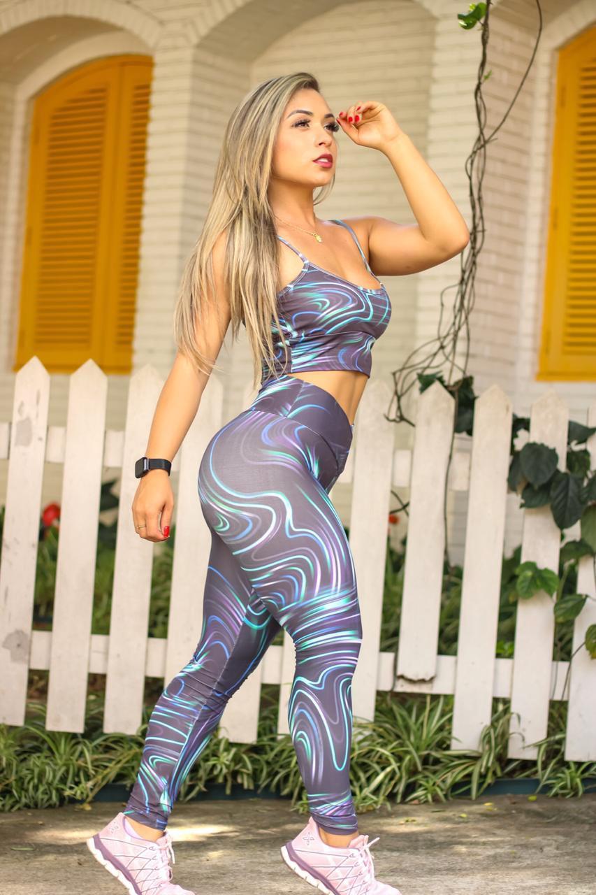 CALÇA POLIAMIDA GEOMETRIC  - Lamark Fitness