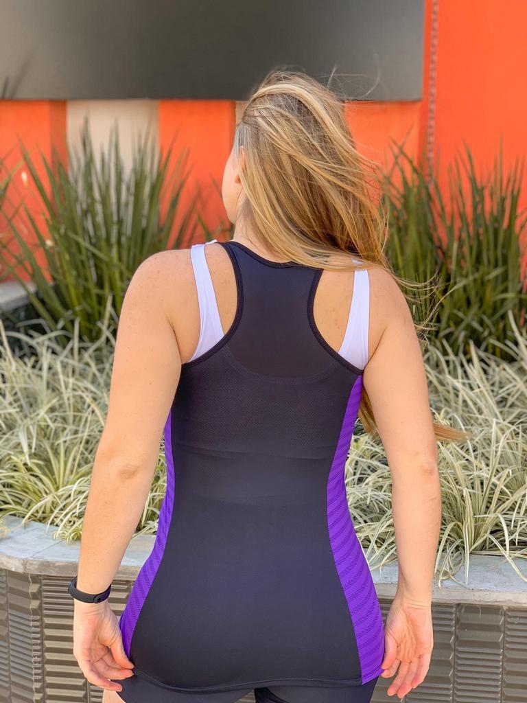 Regata long dry fit de poliamida  - Lamark Fitness