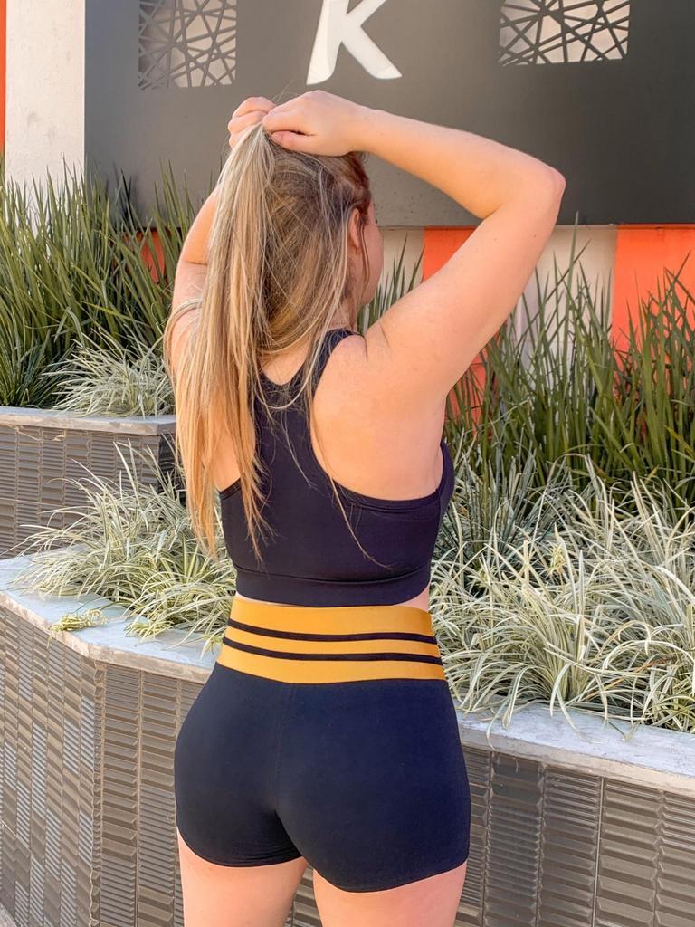 Short cós triplo de malha  - Lamark Fitness