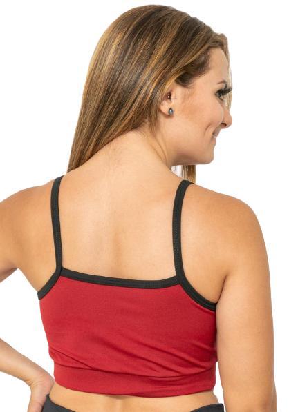 TOP ALCINHA VERMELHO  - Lamark Fitness