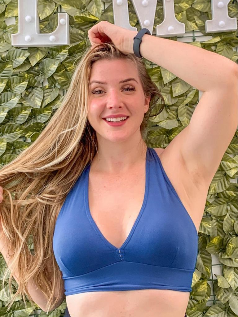 Top nadador reforçado com bojo removível  - Lamark Fitness