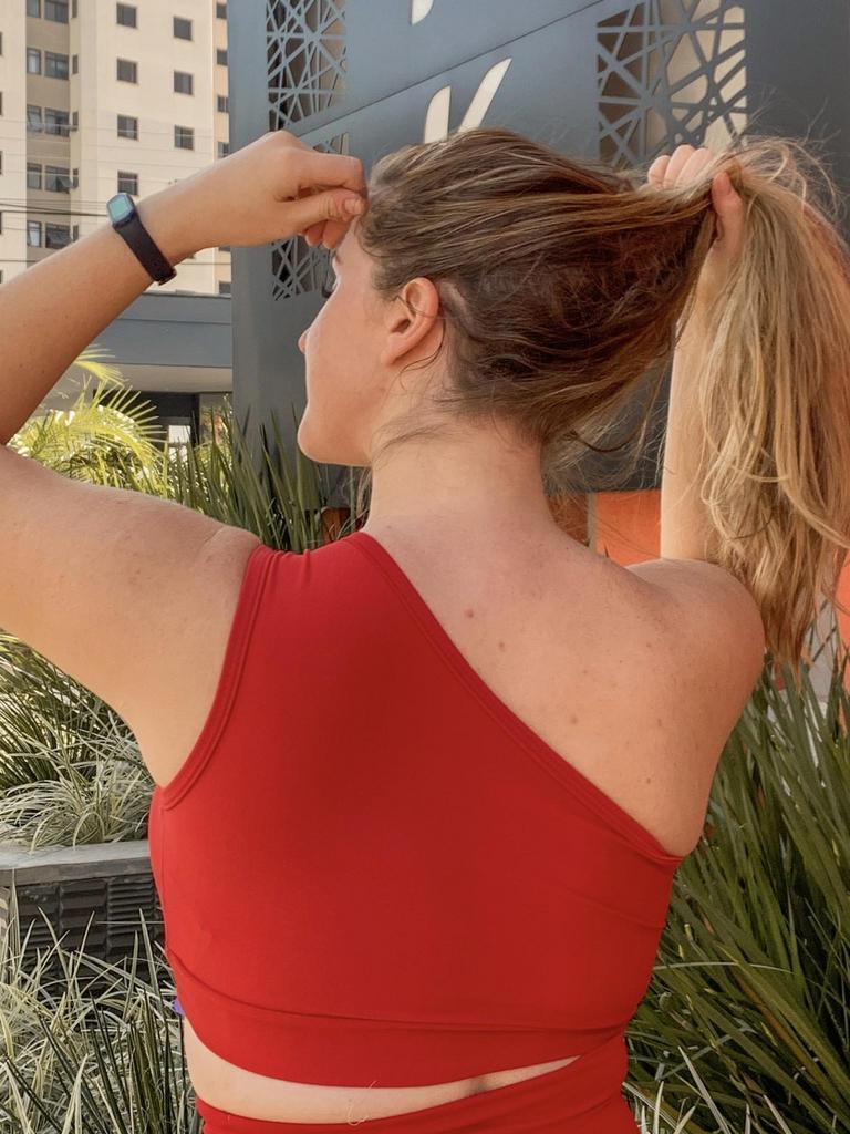 Top um ombro só com bojo removível  - Lamark Fitness
