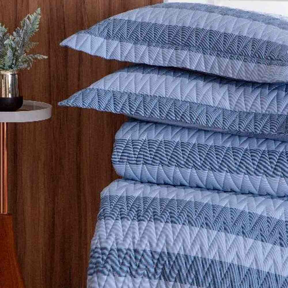 Colcha Queen 300 Fios Large Stripe