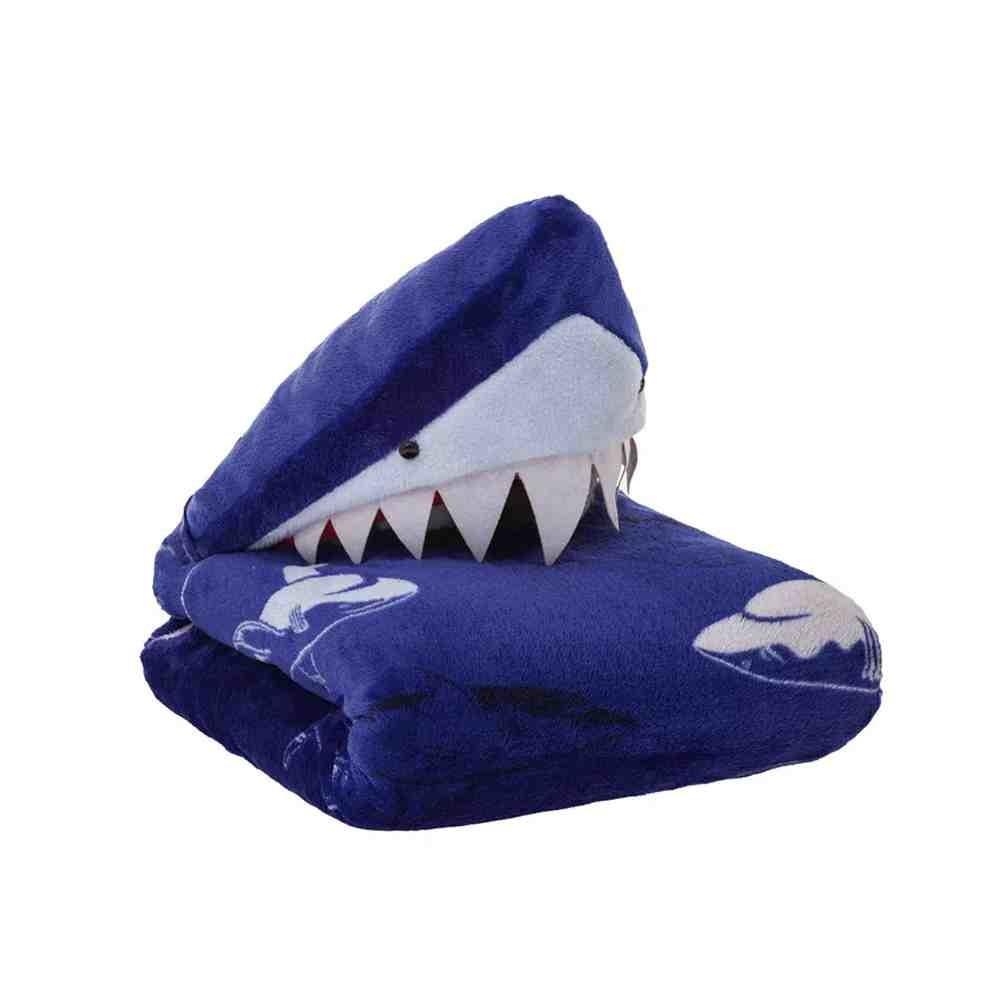 Manta com Capuz Tubarão