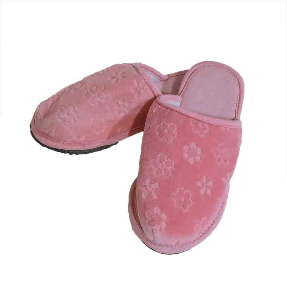 Pantufa plush rose
