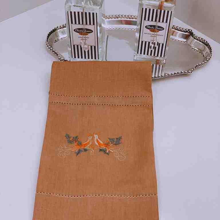 Toalha de Lavabo Birds Mostarda