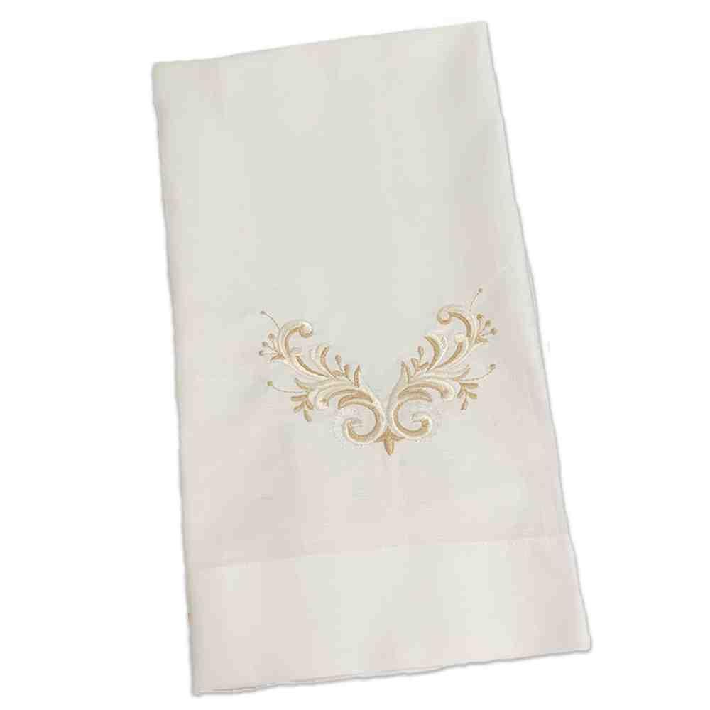 Toalha de Lavabo Vintage Branco