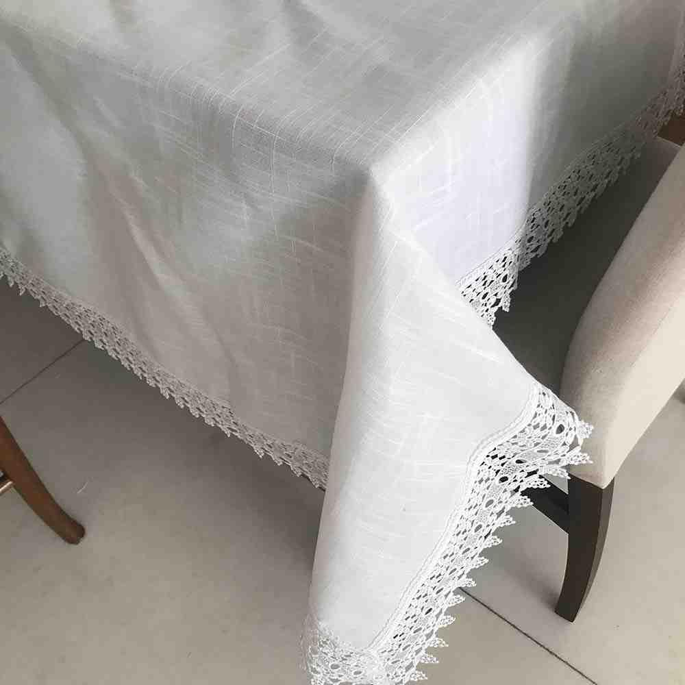 Toalha de Mesa 180X240 Guipir Branco