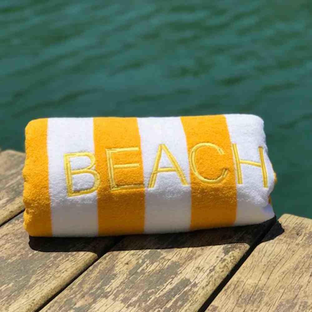 Toalha de Praia Beach Stripe Amarelo